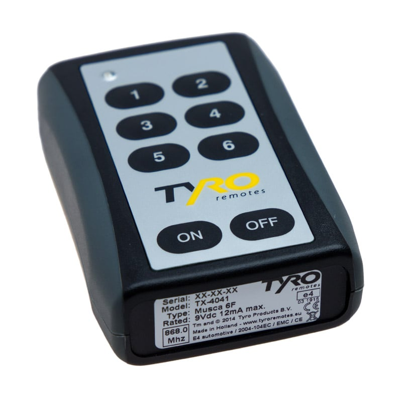 6 channel remote musca