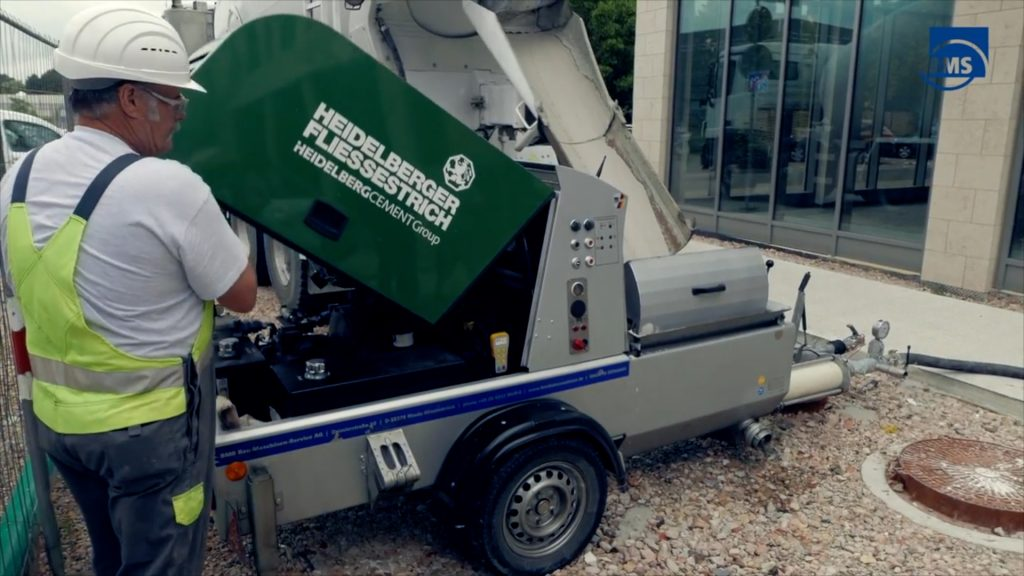 BMS concrete machine supplied with remote control