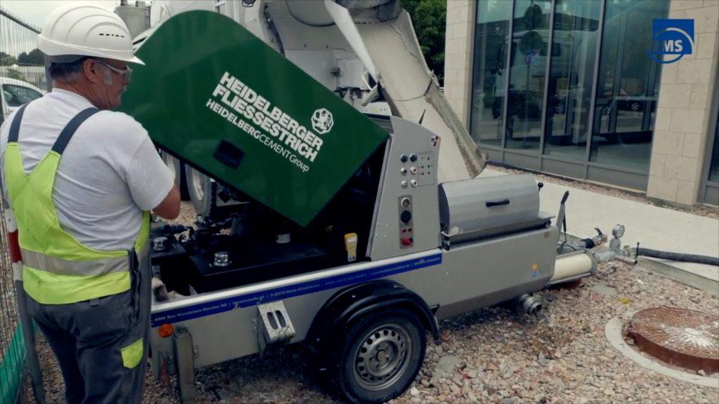 BMS concrete machine supplied with remote control