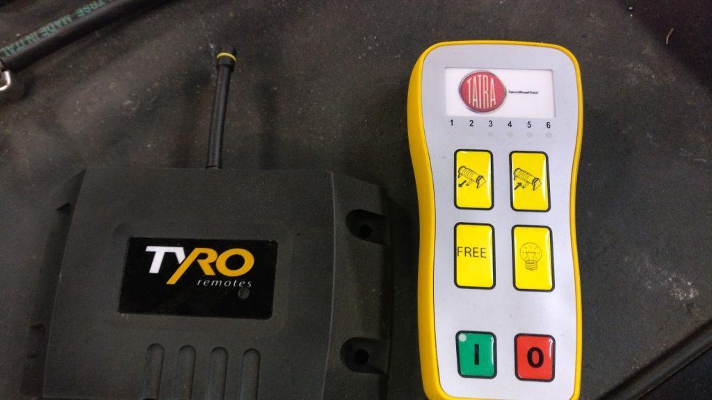 Remote Control for winch at Tatra truck