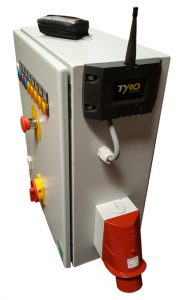 Control cabinet with Tyro Aquarius